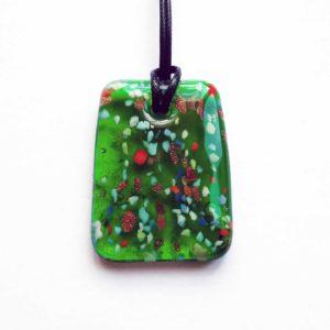 colier cu pandantiv murano verde