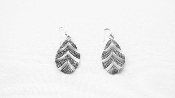Cercei argint model frunza