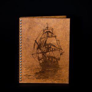 Agenda-A5-lemn-corabie-ag112