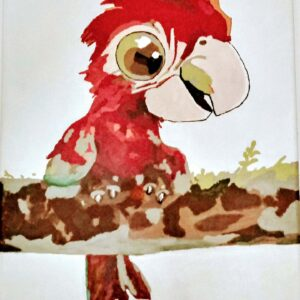 tablou din pictura pe numere papagal