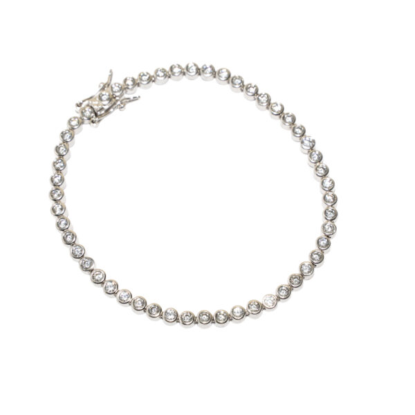 bratara tennis argint zirconii albe